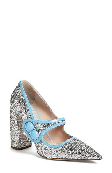 Miu Miu Glitter Mary Jane (Women) available at #Nordstrom