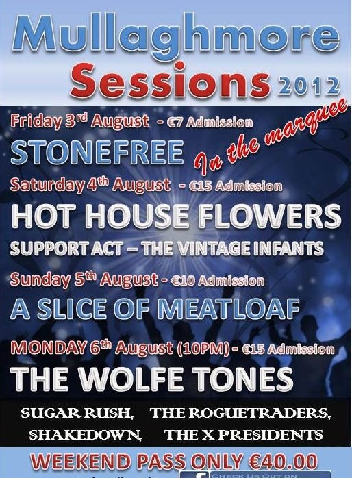 Mullaghmore Sessions August Bank Holiday Weekend