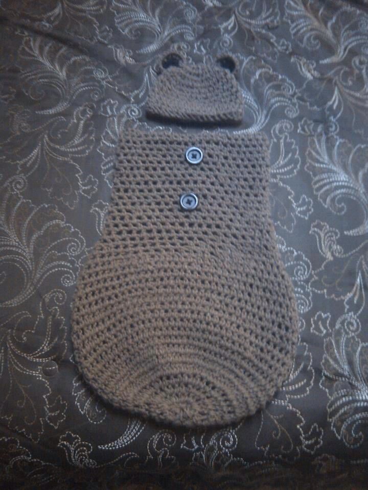 Bear baby cocoon from Maddie and me crochet