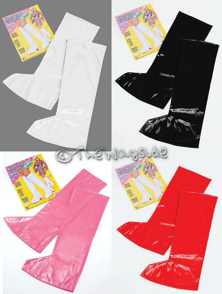 GO GO BOOT TOP SHOE COVERS - 1960S 70S FANCY DRESS DISCO RETRO HIPPY PIMP MOD
