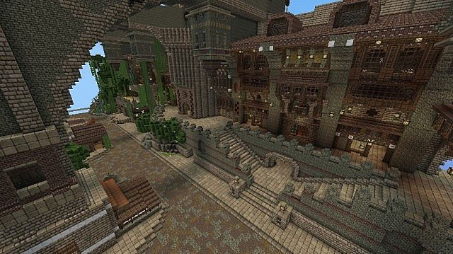 Cliff Town Minecraft Project