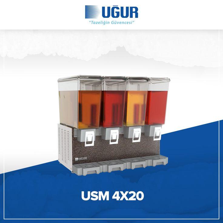 USM 4X20 birçok özelliğe sahip. Bunlar; meşrubat ve ayran için mükemmel teşhir imkanı, yüksek ve düşük kıvamlı içecekler için çeşitli hacim seçenekleri, marka uygulaması yapabilen şeffaf hazne, çelik gövde ve temizlik işlemlerinin etkin bir şekilde yapabilmesine imkan verecek şekilde ayırabilen parçalar. #uğur #uğursoğutma