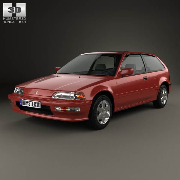 honda civic hatchback 1987 3d model from. Black Bedroom Furniture Sets. Home Design Ideas