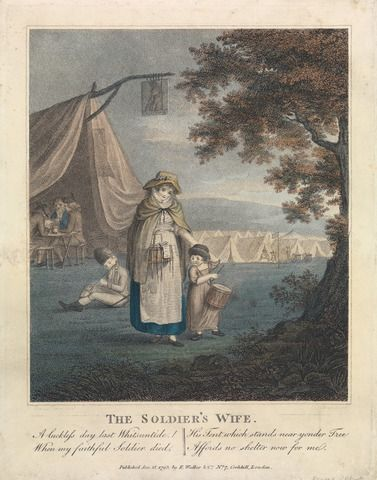 William S. Leney, 1769-1831, The Soldier's Wife, 1793, Colored stipple engraving, Yale Center for British Art, Paul Mellon Collection