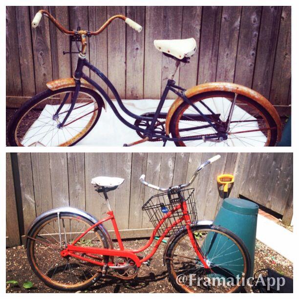 Schwinn Bicycle Painting : Diy revamp a classic cruiser schwinn bicycle materials