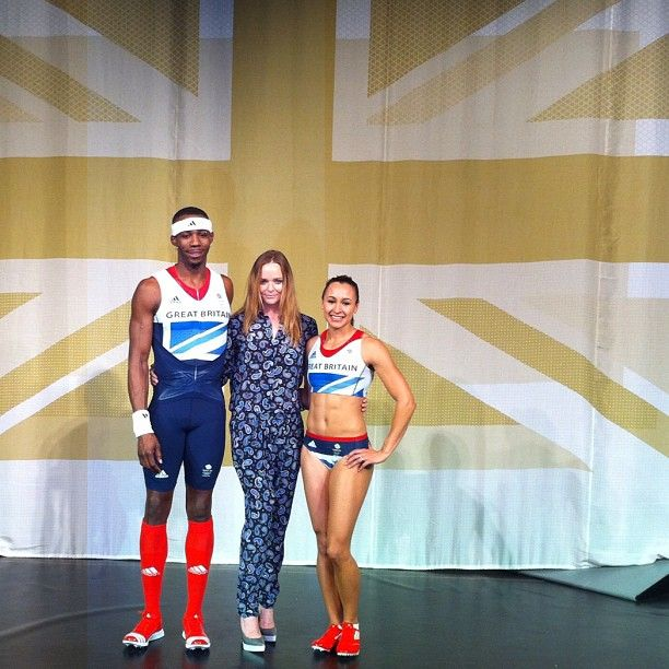 Stella McCartney with Jess Ennis & Phillips Idowu at adidas Team GB kit launch 22/03