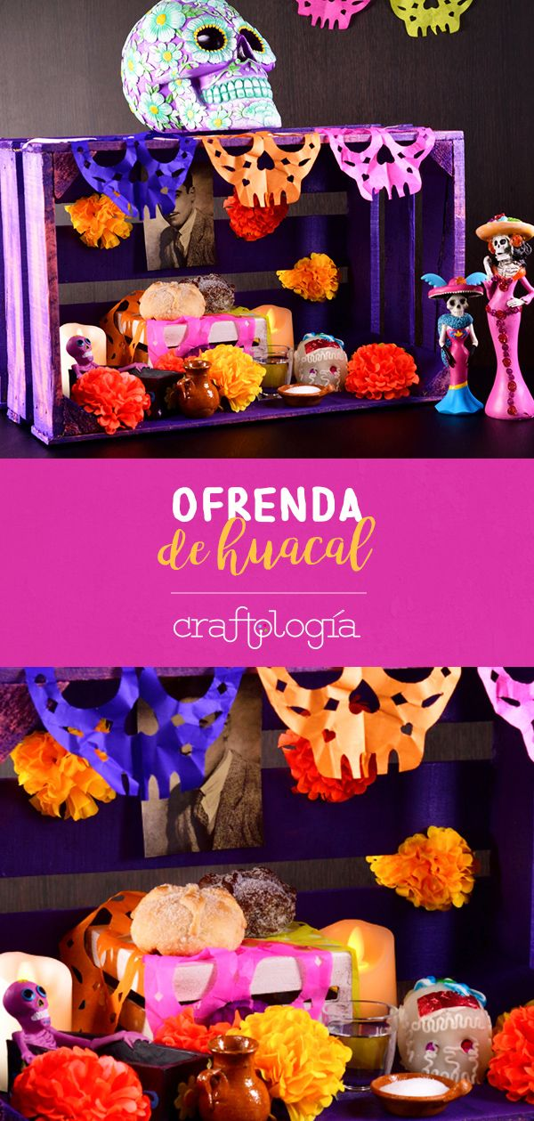 Create your own altar to the dead in the ways of Mexican traditons! It's easy to do and it won't take up much space in your house. Day Of The Dead Diy, Adornos Halloween, Create Your Own, It's Easy, Coco, Babys, Creative, Sushi, Crafts