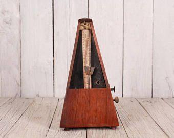 Antique metronome 40s, Metronome, Vintage metronome, Wood clockwork metronome, Working metronome, Piano music timer, Vintage gift