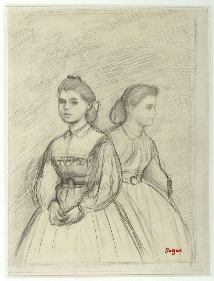 Double Portrait of Giovanna and Giulia Bellelli - Edgar Degas, circa 1865-1866 | Collection Boijmans
