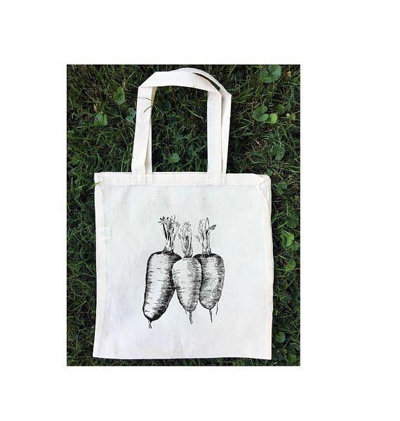 Farmer's Market Tote Bag / Cotton Eco Friendly Bag /