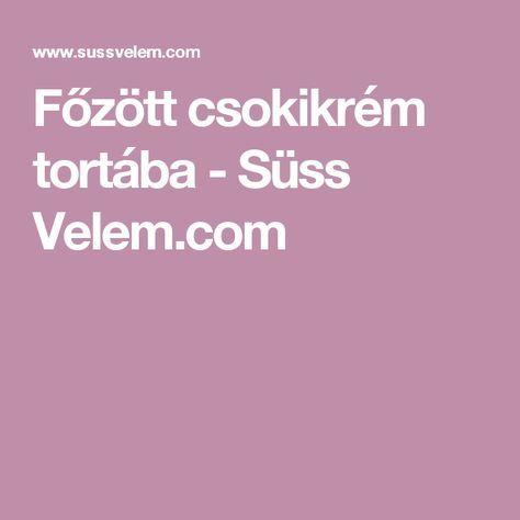 Főzött csokikrém tortába - Süss Velem.com