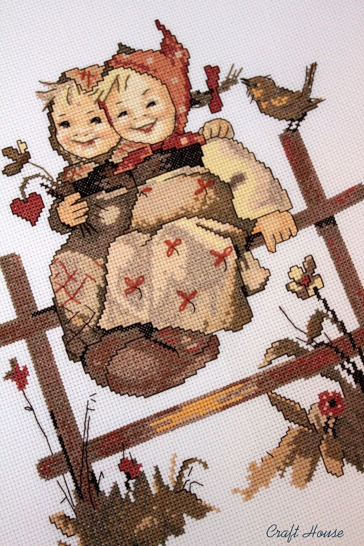 """Coquettes"" Hummel cross stitch design"
