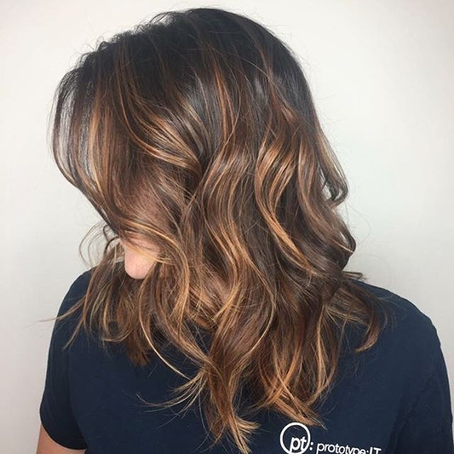 Chocolate Caramel Swirl Balayage - Aveda Hair Color - Tangerine Salon