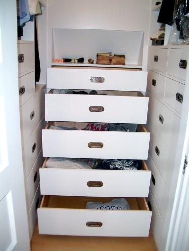 narrow closet storage
