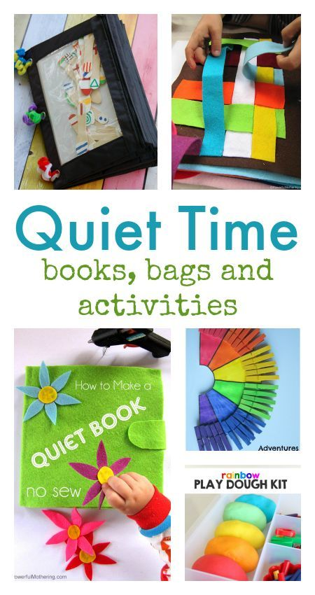 quiet time activities ::quiet books :: busy bags