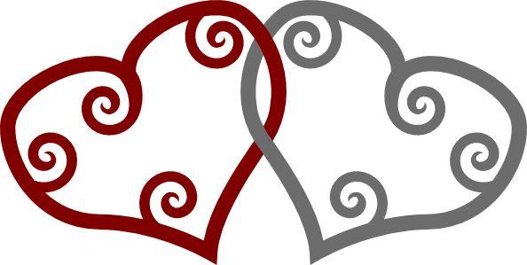 Linked koru heart
