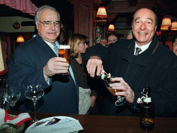 Avec Helmut Khol.