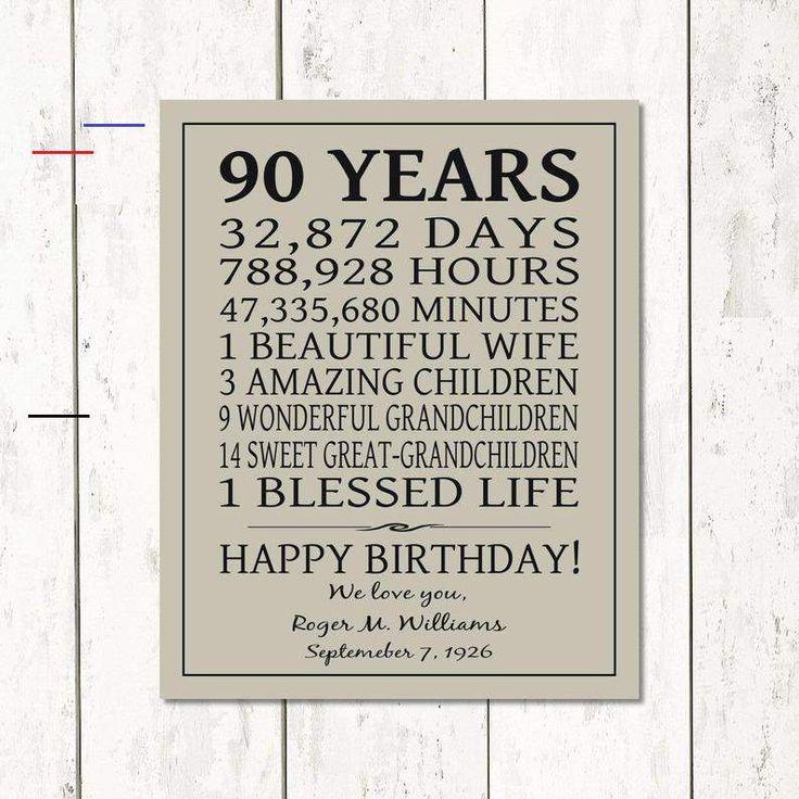 BIRTHDAY Gift 90th or ANY YEAR, 90 Year Birthday