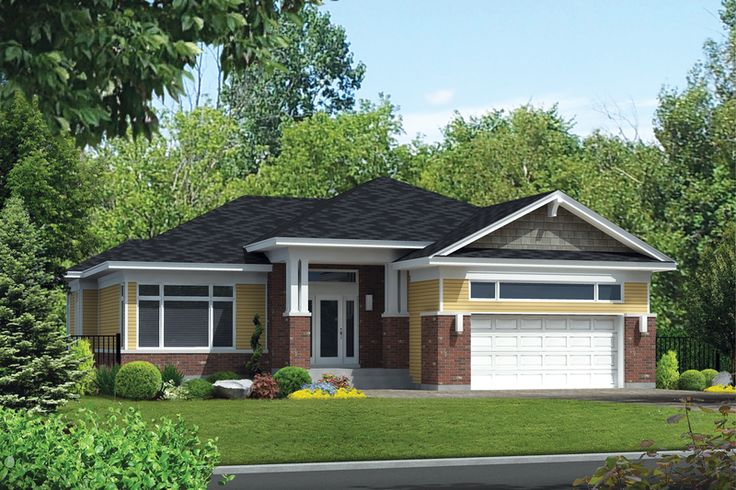 Prairie Style House Plan - 3 Beds 2 Baths 1637 Sq/Ft Plan #25-4460 Exterior - Front Elevation - Houseplans.com