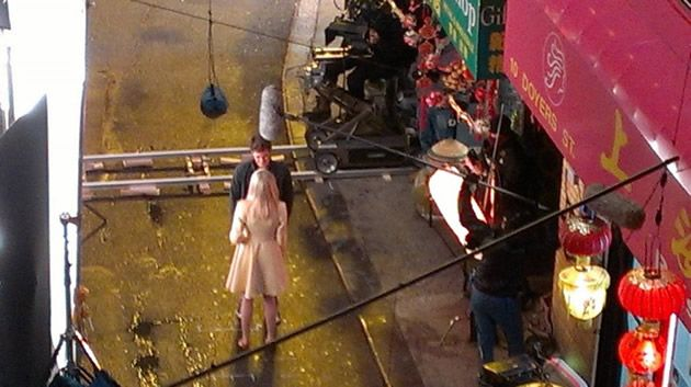 The Amazing Spider-Man 2 Set Photo: Peter and Gwen in Chinatown