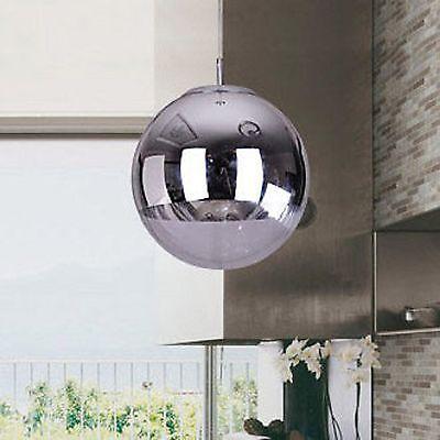 D30cm - Chrom Glas Spiegelkugel Hängeleuchte Deckenleuchte Pendelleuchte Design