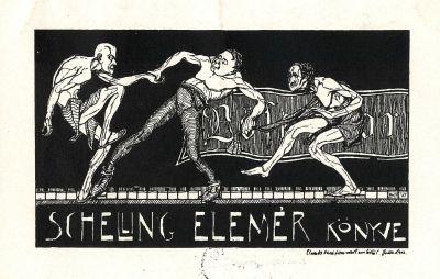 Bookplate by Tibor Bottik for  Schelling Elemér, 1903