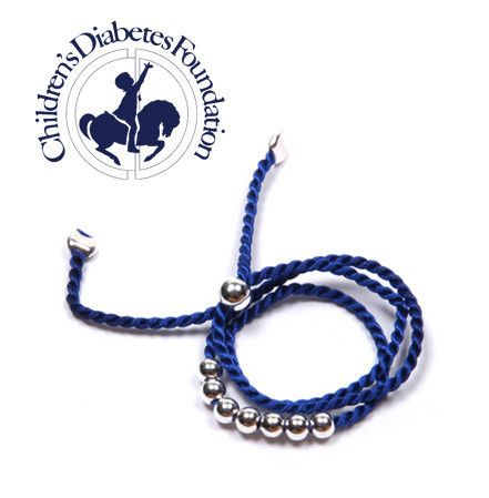 Support the Children's Diabetes Foundation by buying a CJ Free blue diabetes bracelet!