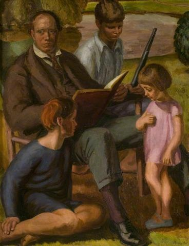"artist...Vanessa Bell  ""Clive Bell and Family"""
