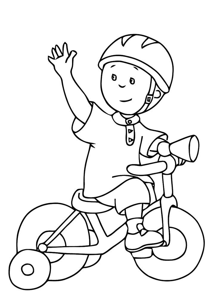 Caillou Coloring Pages For Kids Printable Free Malen Caillou