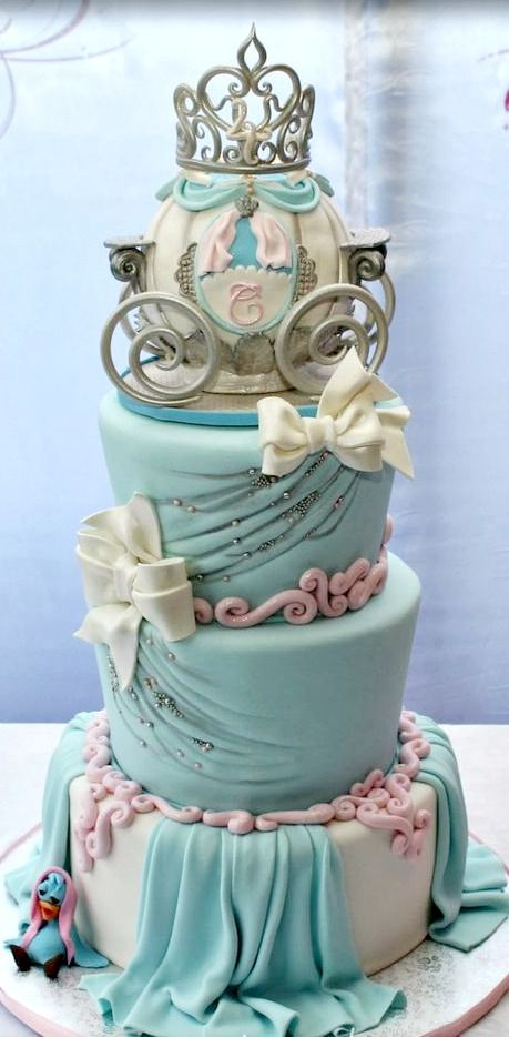 Cinderella Themed Birthday Cake - For all your cake decorating supplies, please visit craftcompany.co.uk