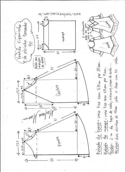 моделирование одежды схема ciganinha танков размер 40.