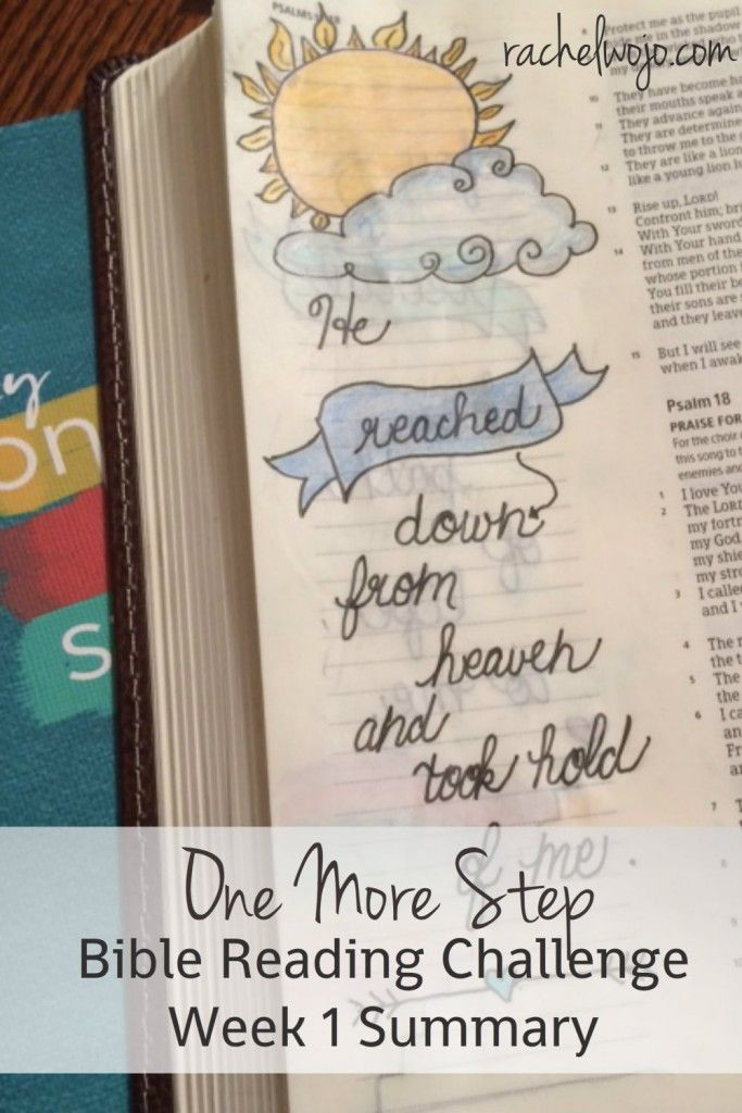 Welcome to the One More Step Bible Reading challenge Week 1 summary! Wow- that's a mouthful! What did we learn this week about finding strength? #onemorestep