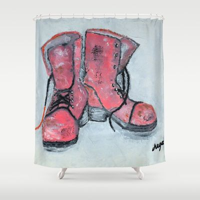 Well matched pair Shower Curtain by Maga_Smolik_EU - $68.00