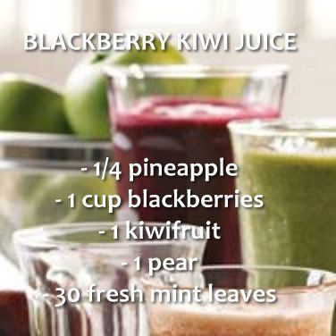 Blackberry Kiwi Juice Recipe