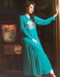 Turquoise Wemmer, Pakistani Designers Casual Shalwar Kameez 2012 Collection, Casual and Every Day Wears