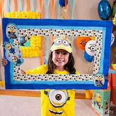 Show your ingenious side with a DIY photo frame! Just cut a frame from poster board & decorate with Despicable Me duck tape, streamers & cutouts! Now that's insta-worthy!