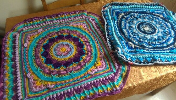 Two of my Sophie's Universe made with Stylecraft Specisl dk
