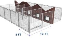 Dog Boarding Kennel Plans | Outdoor Dog Kennel Kits. Build your own Chain Link Dog Fence ...