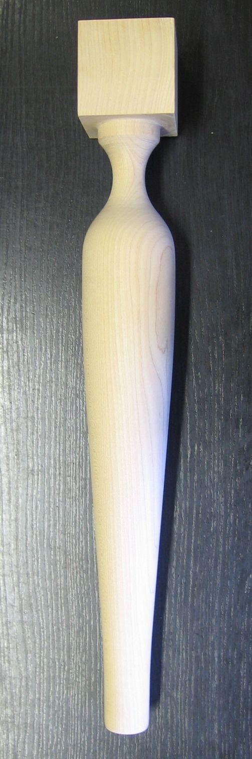 noga toczona drewno bukowe 1802041 - Okucia stylowe, okucia meblowe, do antyków, okucia antyczne, stare okucia, akcesoria meblowe, galanteria drewniana, materiały do konserwacji antyków, antyki, meble stylizowane, zamki, do skrzyni, gałki, klucze, renowacja mebli, akant Wrocław