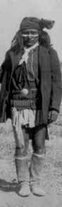 Fun, half-brother of Chief Perico. Fun was one of the fiercest Chiricahua Apache warriors and best friend of Chief Geronimo. (Close-up of the group photo of 1886 by C. S. Fly, Tombstone, Arizona).