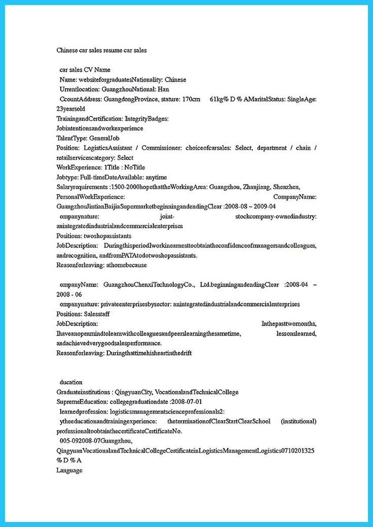 awesome writing a clear auto sales resume auto sales resume