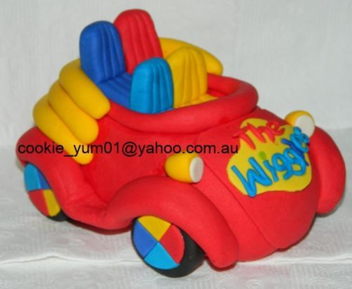 edible 3D THE WIGGLES BIG RED CAR large CAKE TOPPER DECORATION birthday