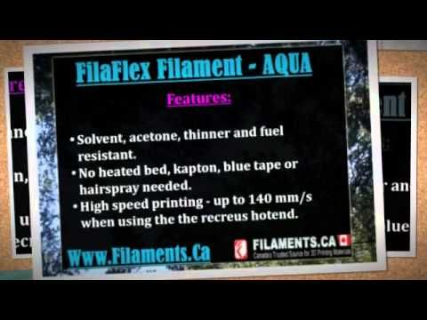 FilaFlex is a new elastic filament for 3D printers, compatible with almost any 3d printer. It is a revolutionary material that allows you to create elastic parts using your 3D printer.For More Info See At -http://goo.gl/5ttmxU