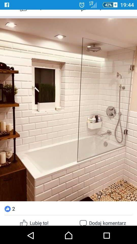 Wanna Z Parawanem łazienka Bathroom W 2019 łazienka I