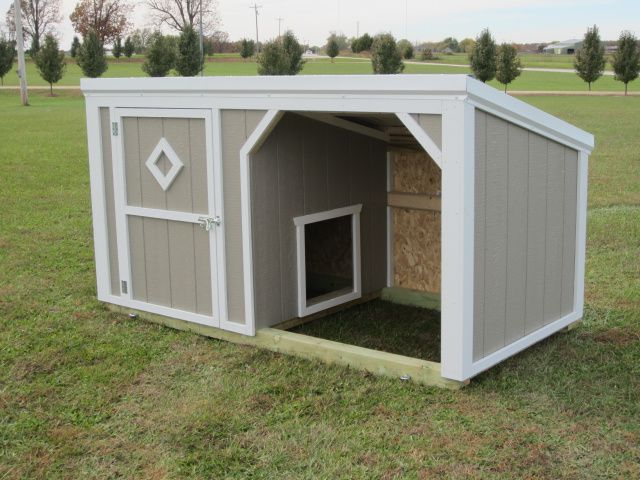 This is a 4x8 Small Animal Shelter with an inside 4-0 wall giving the dog or dogs a nice 4x4 dog house & a 4x4 run in shed. The customer set this building inside of a 10x10 Wire Kennel Something simular to this would run $750.00
