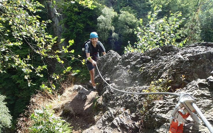 Climbing via ferrata - Climbing in amazing nature.
