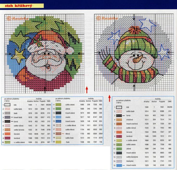 10 Christmas Cross Stitch Ornaments, chart page, page 4/5.