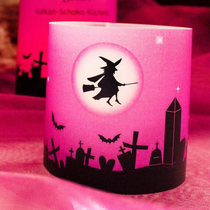 Halloween Windlicht Zauberhafte Hexe