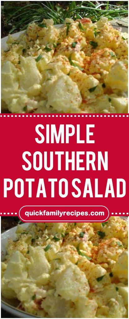 Simple Southern Potato Salad  #southern #potato #salad #foodlover #homecooking