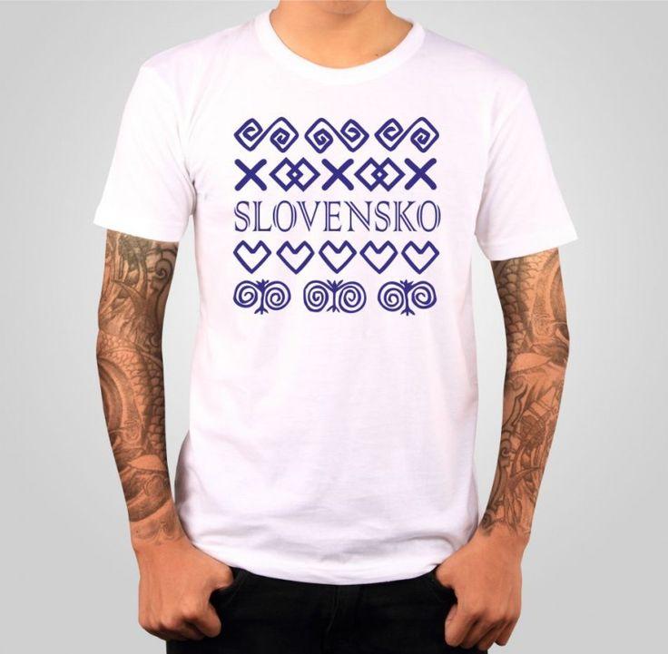Tričko s potlačou - Slovensko-čičmiansky vzor ǀ Fajntričko.sk